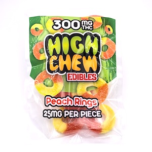 High Chew Peach Rings – 300mg – CannaSense